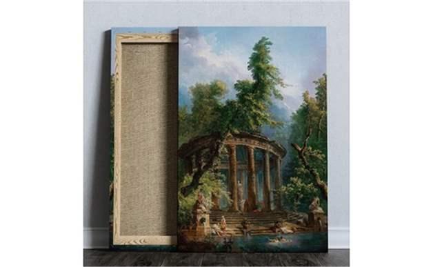 Sütun Sanat Ormanı Dekoratif Kanvas Tablo 30X40 Cm