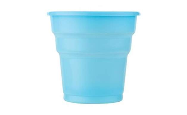Açık Mavi Plastik Meşrubat Bardağı 10'Lu