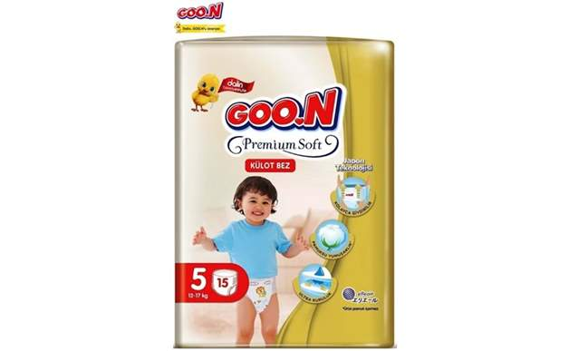 Goon Premium Soft 5 Numara Külot Bez 12-17 kg İkiz Paket 15 Adet